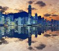 Skyline of hong kong island Royalty Free Stock Photos