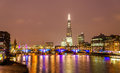 Skyline of London with the Thames river Royalty Free Stock Photo