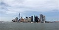 Skyline of Manhattan from a waterview Royalty Free Stock Photo