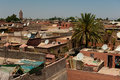 Skyline of Marrakech Royalty Free Stock Images