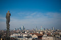 Skyline of Milan, Italy Royalty Free Stock Images