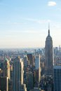Skyline new york city with empire state building the of Royalty Free Stock Photo