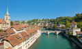 Skyline over the old town of Bern Royalty Free Stock Photo