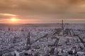 Skyline of Paris Royalty Free Stock Photo