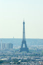 Skyline of Paris on  summer day Royalty Free Stock Photo