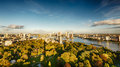 The Skyline of Rotterdam, the Netherlands Royalty Free Stock Photo