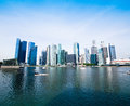 Skyline of Singapore business district Stock Photo