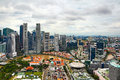 Skyline of singapore in hdr Stock Image