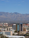 Skyline of Tucson Arizona Royalty Free Stock Photography