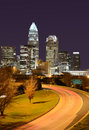 Skyline of Uptown Charlotte Stock Image