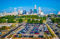 Skyline of uptown charlotte north carolina Royalty Free Stock Photos