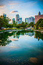 Skyline of uptown charlotte north carolina Stock Image
