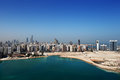 A skyline view of abu dhabi uae s capital city this is nd largest and has population almost million residents Stock Images