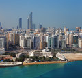 A skyline view of abu dhabi uae s capital city this is nd largest and has population almost million residents Stock Image