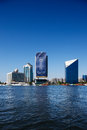 Skyline view of Dubai Creek Skyscrapers, UAE Stock Image