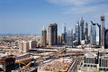 A skyline view of Dubai, UAE Royalty Free Stock Photos