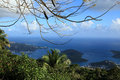 Skyline view of st thomas u s virgin islands Royalty Free Stock Photo