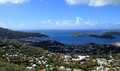 Skyline view of st thomas u s virgin islands Stock Image