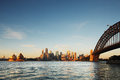 A Skyline View of Sydney Opera House and Harbour B Stock Photo