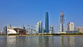 The skyline view of zhujiang new town cbd guangzhou guangdong china Stock Photo