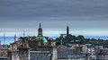 Skyline views around the capital city of edinburgh scotland uk Royalty Free Stock Images