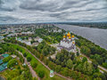 Skyline of Yaroslavl city of Russia