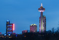 Skylon tower casino and hotels at niagara falls canada th april the night Stock Photography