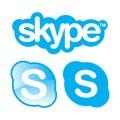 Skype logo icons.