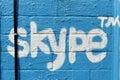 Skype Street Art Royalty Free Stock Photo