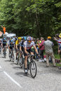 SkyProcycling lag Royaltyfria Bilder