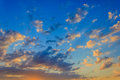skyscape at sunset Royalty Free Stock Photo