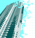 Skyscraper And Blue Curves Stock Photography