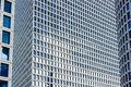 Skyscraper building modern city architecture exterior facade wall and windows background Royalty Free Stock Photo