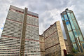Skyscraper in the center of caracas venezuela old residential buildings and Royalty Free Stock Photo