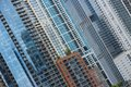 Skyscraper city abstract windows background modern architecture pattern Stock Images