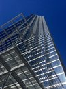 Skyscraper in downtown dallas with deep blue sky Royalty Free Stock Images
