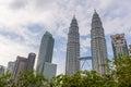Skyscraper petronas twin towers in Malaysia Royalty Free Stock Photo