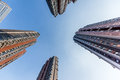 Skyscraper in Residential area Royalty Free Stock Photo