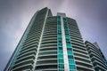 Skyscraper in South Beach, Miami Beach, Florida. Royalty Free Stock Photo