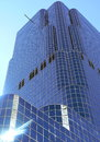 Skyscraper in toronto canada by beautiful day Royalty Free Stock Photo