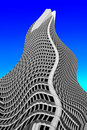 Skyscraper waves Stock Photography