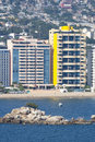 Skyscrapers on Acapulco waterfront Royalty Free Stock Photo
