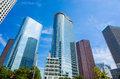 Skyscrapers against blue sky in downtown of Houston, Texas Royalty Free Stock Photo