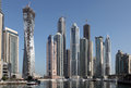Skyscrapers in Dubai Marina Stock Photo