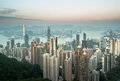 Skyscrapers of Hong Kong in China, Asia. Royalty Free Stock Photo