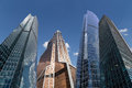 Skyscrapers of the international business center city moscow russia Stock Images