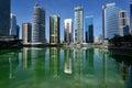 Skyscrapers Of Jumeirah Lake Towers In Dubai