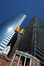 Skyscrapers in New York Royalty Free Stock Photo