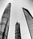 Skyscrapers in Shanghai, China Royalty Free Stock Photo