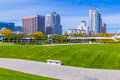 Skyscrapers  and skyline of Milwaukee,WI (P) Royalty Free Stock Photo